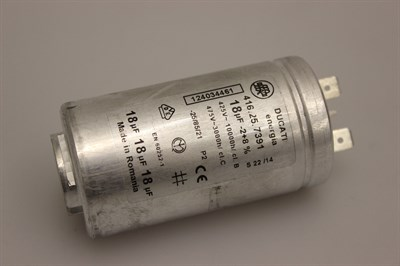 Start capacitor, Electrolux washing machine - 18 uF