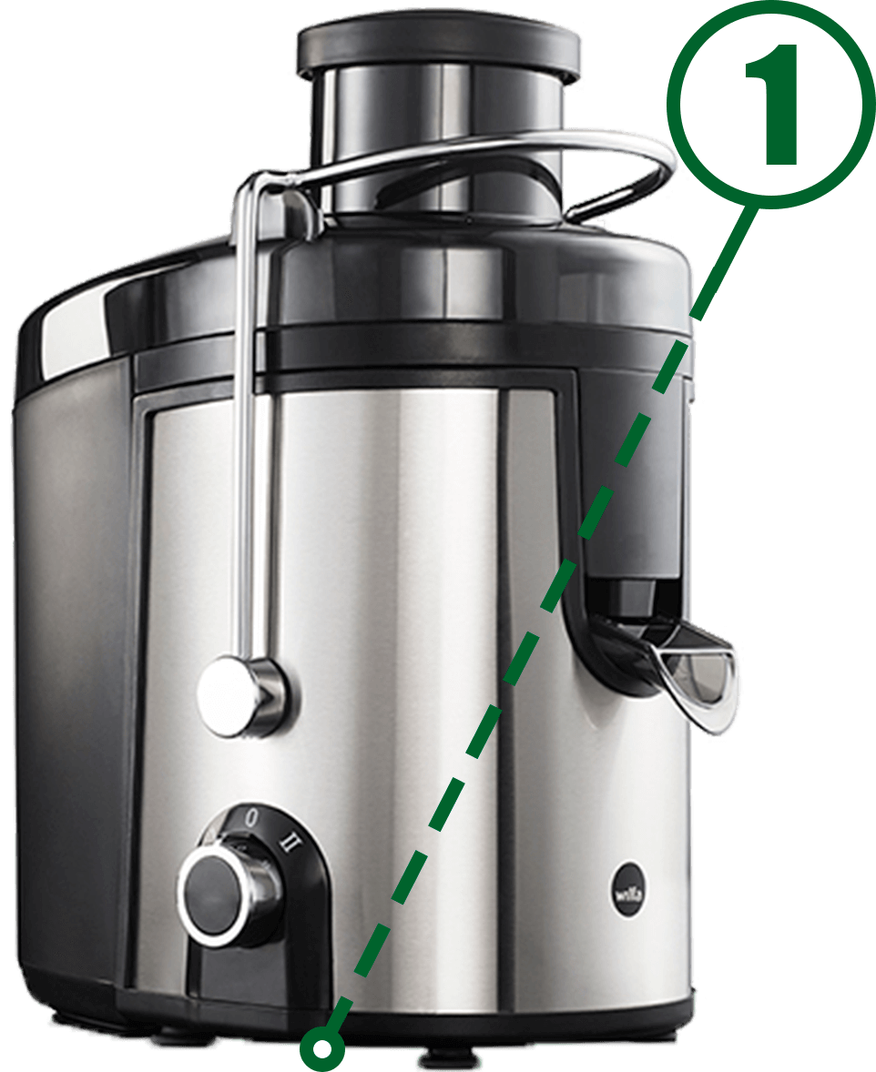 model number on juice extractor or juice press