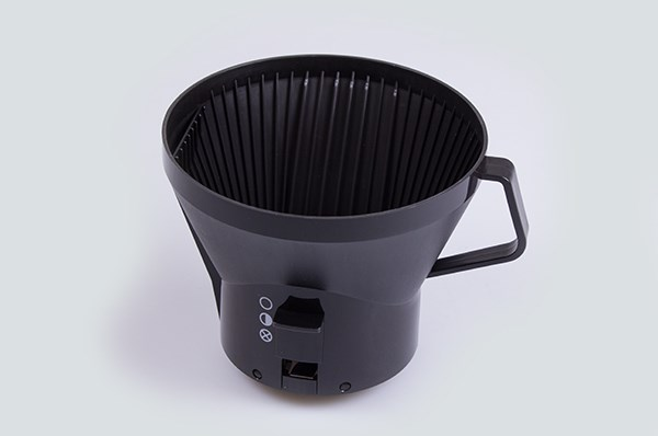 Filter holder basket, Moccamaster coffee maker - Black (round bottom)
