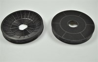 Carbon filter, Silverline cooker hood - 160 mm (2 pcs)
